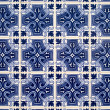 Detail of azulejos, traditional portuguese tiles — Stock Photo #18691961