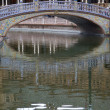 Bridge over canal in Spain Square, Seville — Stock Photo