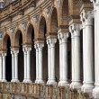 Detail of ornamental building in Spain Square, Seville — Stock Photo