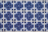 Detail of azulejos, traditional portuguese tiles — Stock Photo