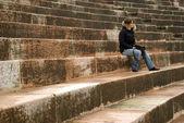 Römische arena sitzplätze — Stockfoto