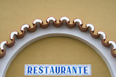 Restaurant sing in Portugal — Stock Photo