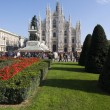 Duomo - Cathedral square of Milan — Stock Photo