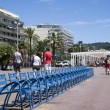 The Promenade des Anglais in Nice, France - Stock Photo