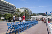The Promenade des Anglais in Nice, France — Foto de Stock