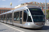 Tram in city of Nice — Stock Photo