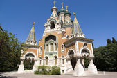 Russian Church in Nice, France — Foto Stock