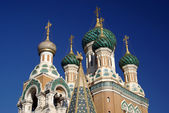 Domes of Russian Orthodox Church — Stock Photo