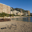 Monte Carlo beaches — Stock Photo