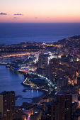 Enchanting Monegasque dusk — Foto Stock