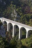 Viaduct in Alps — ストック写真