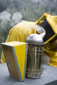 Smoker beekeeper — Stock Photo