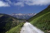 Alpine track. France to Italy — Stock Photo