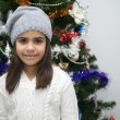 Girl at Christmas — Stockfoto