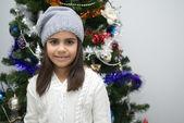 Girl at Christmas — Stock Photo