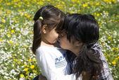 Sestry náklonnost — Stock fotografie