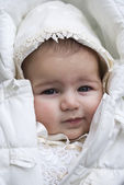 Six months old baby girl portrait — Stock Photo