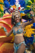 Carnival dancer — Stock Photo