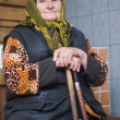Poor elderly woman — Stock Photo