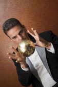 Magician's magic trick — Stock Photo