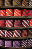 Ties in a shop — Stock Photo