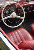 Interior of a vintage car — Stock Photo