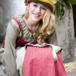 Medieval costume party — Stock Photo