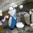 Medieval laundry — Stock Photo