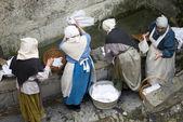 Medieval laundry — Stock Photo