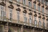 Baroque facade of a building in Turin — Stock Photo