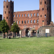 The Palatine Gate (Porta Palatina), Turin — Stock Photo