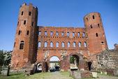 The Palatine Gate (Porta Palatina), Turin — Stock Photo