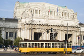 Central railway station in Milan — Stock Photo