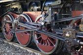 Rodas do trem de vapor — Fotografia Stock