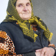 Poor elderly woman — Foto Stock