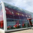 Modern architecture of Ferrari Store — Stock Photo
