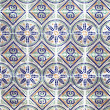 Portuguese azulejos, old tiled background — Stock Photo