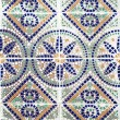Stock Photo: Portuguese azulejos, old tiled background