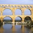 Roman bridge and aqueduct — Stock Photo