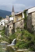 Borgomaro. Ancient village in Liguria region of Italy — Stock Photo