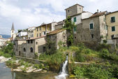 Borgomaro. Ancient village in Liguria region of Italy — Stock Photo