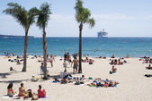 Beach in Cannes, French Riviera — Stock fotografie