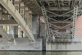 跨河桥梁 — 图库照片