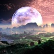 Stock Photo: Dawn on Idyllic Earth-like Planet