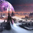 ストック写真: Alien World in Winter