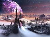Främmande värld på vintern — Stockfoto