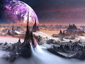 Obcym świecie zimą — Zdjęcie stockowe