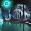 Quasar City from the Marina — Stock Photo
