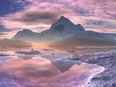 Snowy Mountain Sunrise — Stock Photo