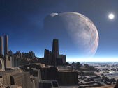 Abbandonato il pianeta alieno — Foto Stock